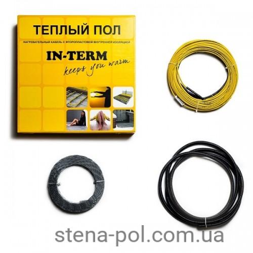 Нагревательный кабель In-term 64 м / 6,4 -7,7 м² / 1300 Вт