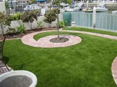 Укладка искусственной травы MoonGrass